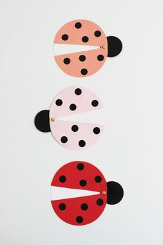 ladybug invites...flap wings open to reveal message/party details.