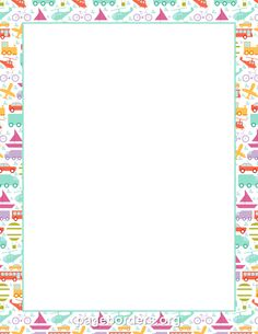 Printable transportation border. Use the border in Microsoft Word or other programs for creating flyers, invitations, and other printables. Free GIF, JPG, PDF, and PNG downloads at http://pageborders.org/download/transportation-border/