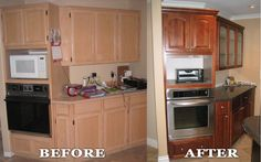 Kitchen reface by Kitchen Solvers (Surry, BC). Refacing is a great way to update a kitchen for up to half the cost of a new kitchen remodel. No need to remove the cabinets or flooring.