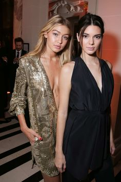 09.30.2014 - More Gigi Hadid and Kendall Jenner at the CR Fashion Book Issue No.5 Launch Party in Paris.
