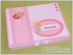 Caixa Forrada para Diário do Bebê - Girl   Pitilikos   Elo7