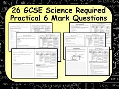 26 New GCSE Science Required Practical 6 Mark Questions Aqa Chemistry, Chemistry Paper, Exam Revision, Gcse Exams, Aqa Science, Gcse Physics, Practice Exam, Organisers, Teaching Resources
