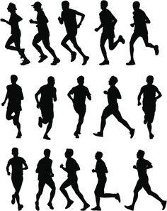 Vectores libres de derechos: Runners