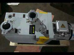 rotary vane vacuum pump applied to refrigeration equipment
