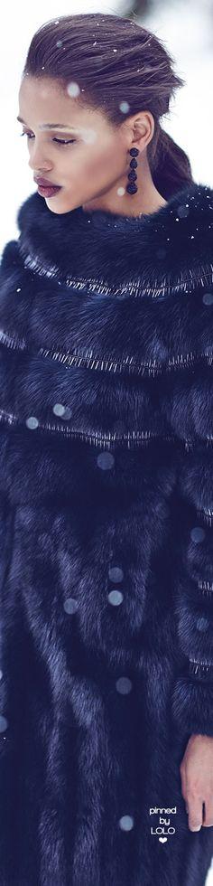 Oscar de la Renta Nafa Embroidered Sable Fur Coat | LOLO❤︎