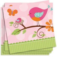 Baby in Pink, Partyservietten, 16er Pack, ca. 33cm, zur Geburt, Taufe, Baby Shower, Papierservietten