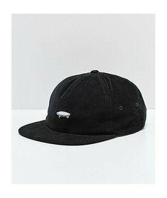 caf2e569 Hats · Vans Salton II Jockey Black Corduroy Strapback Hat Skateboard  Streetwear #fashion #clothing #shoes