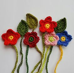 Umbilical cord ties - flowers and leaves