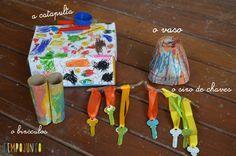 Desafio artesanato fácil para crianças. Simples e divertido!