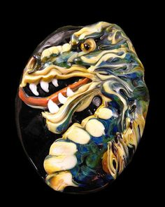 NEW Lampwork  Dragon Focal Bead by Kerribeads by kerribeads, $175.00