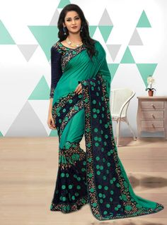 Green Art Silk Festival Wear Saree 115268