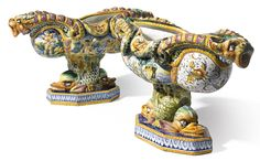 Two Cantagalli maiolica footed centerbowls<br>late 19th century | lot | Sotheby's