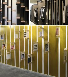 expand the flat notion of the wall into a three-dimensional, interactive and functional space that is more than merely a passive surface. Exhibition Space, Exhibition Ideas, Brochure Display, Award Display, Interactive Walls, Library Wall, Bookcase Shelves, Wall Maps, Store Displays
