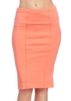 2B Midi Length Pintuck Skirt 2b Skirts Peach Nectar-s 2b by bebe. $24.95