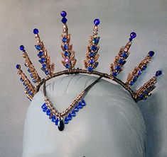 La Bayadere Tiara, Cobalt Blue, Black Dog Designs