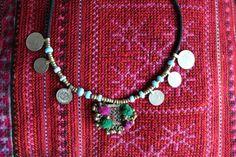 collar etnico kuchi afghan gispy banjara india por azulcasinegro