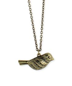 Another great find on #zulily! Goldtone Puff Bird Pendant Necklace #zulilyfinds