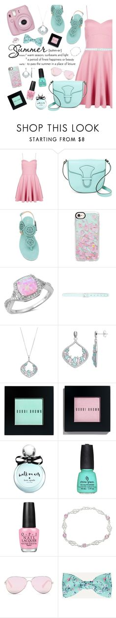 """""""Aqua and Pink"""" by sew-inspired ❤ liked on Polyvore featuring Boohoo, Via Spiga, Unützer, Casetify, Kate Spade, Bobbi Brown Cosmetics, Fujifilm, China Glaze, OPI and Journee Collection"""