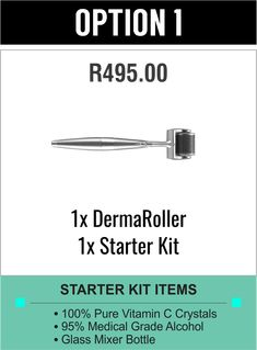 Dermaroller is a microneedling skin care tool that uses tiny needles to gently prick the skin and stimulate collagen & elastin. To repair any kind of skin damage, the skin needs to regenerate by creating new skin cells. Derma Roller, Stretch Marks, Acne Scars, Hyaluronic Acid, Diy Kits, Starter Kit, Collagen, Serum