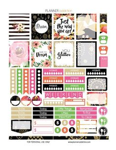 Planner Addiction | Free Printable Sticker Set