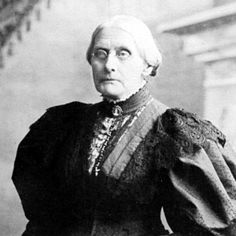 Susan B. Anthony. Women's rights activist and leader of the women's suffrage movement.