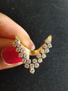 Mangalore bunt traditional V shape ring #bridaljewelrygoldshape