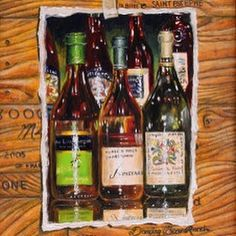 "Happy Celebrating Everyone! ""Wine Labels"" 9""x7"" oil $685 @draimworks  #wine #draimworks #debrakeirce #newmexico"