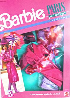 Amazon.com: Vintage Barbie Paris Pretty Deep Pink Vinyl Raincoat and Umbrella: Toys & Games