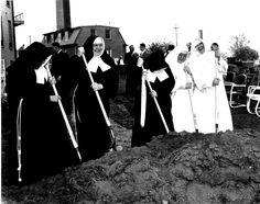 Sisters at a 1930 groundbreaking.