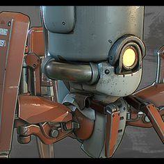 Spider Robot, Jonas Ronnegard on ArtStation at https://www.artstation.com/artwork/91JVa