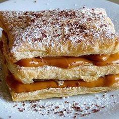 Milhojas con Dulce de Leche #recetasargentinas #milhojas #dulcedeleche