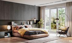 Modern apartment in Berlin on Behance Modern Bedroom, Bedroom Interior, Master Bedroom Design, Best Interior, Bedroom Design, Modern Apartment, Interior Design Bedroom, Interior Design, Best Interior Design