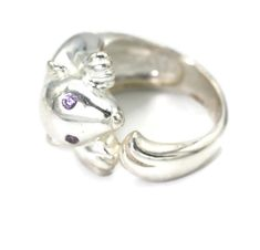 Heavy Sterling Ring 1980s Sterling Ring Open Heart Band Vintage CZ Solitaire Ring 7 mm Clear CZ Hearts Engagement Ring High Profile.