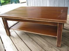 Faux Leather Coffee Table.