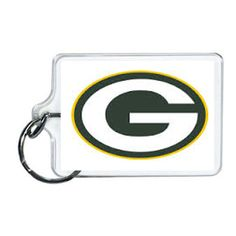 NFL Green Bay Packers Acrylic Lucite Keychain 2 x 1| www.balligifts.com Nfl Green Bay, Green Bay Packers, Nfl Sports