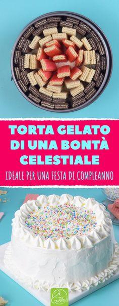 Torta gelato di una bontà celestiale: ideale per una festa di compleanno! #ricettedolci #dessert #vaniglia #gelato #homemade #lattecondensato #pannamontata #tortafredda #tortagelato #wafer #loacker #festadicompleanno Bon Ap, Cake Tutorial, Party Cakes, Cereal, Birthday Cake, Cooking Recipes, Breakfast, Desserts, Food