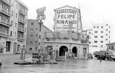 La Valencia desaparecida: Torrefiel. Gasolinera en la confluencia de la calle Santo Domingo Savio y la avenida de la Constitución