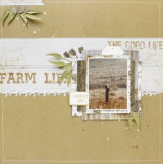 Kaisercraft Old Mac paper Country life Layout By Anita Bownds Scrapbooking Layouts, Scrapbook Pages, Mac Collection, General Crafts, Layout Inspiration, Close To My Heart, Clear Stamps, Pattern Paper, Country Life