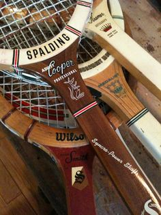 Order in the Court: Vintage Wooden Tennis Racquet Collection, ca. Tennis Tips, Sport Tennis, Le Tennis, Golf Tips, Tennis Party, Vintage Tennis, Vintage Sport, Vintage Vibes, Tennis Equipment