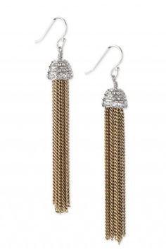 """Stella & Dot Selby Fringe Earrings - bohemian chic, 3"""" drop, sterling silver earwire #sparklewithaydin #springcollection2014"""