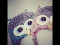 ▶ Gorro de Buho a Crochet - Tallas de 0 a 2 años - Parte 1 de 2 - YouTube
