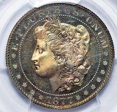 RARE Pattern Coin.   Type: 1877 50C J-1515  Grade: PCGS PR66BN