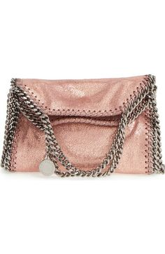 Stella McCartney 'Tiny Falabella' Metallic Faux Leather Crossbody Bag available…