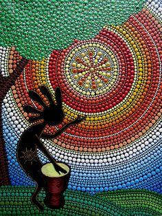 Kokopelli. Dios de la diversión y la fertilidad. Un imán en la