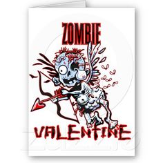 Zombie Valentine's Cards from Saytoons.com