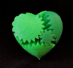 Nerdy Fun 3D Printed Desk Toy Rotating Gear Heart by CarryTheWhat