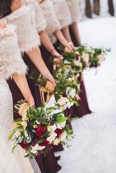 Winter Bridesmaids Bouquet ideas - Vaughn Barry Photography   Muskoka Bridesmaid Bouquet, Bridesmaid Dresses, Wedding Dresses, Winter Bridesmaids, Destination Wedding Photographer, Great Photos, Wedding Planning, Wedding Decorations, Decor Ideas