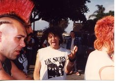 Wattie (The Exploited) and Charlie Harper (UK SUBS).