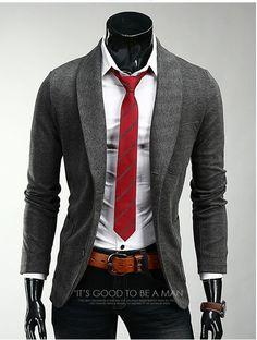 Mens Slim Fit Premium Herringbone Shawl Jacket Blazer