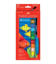 Faber Castell- Gel Sticks With Brush. Gel Sticks are unbelievably smooth and…